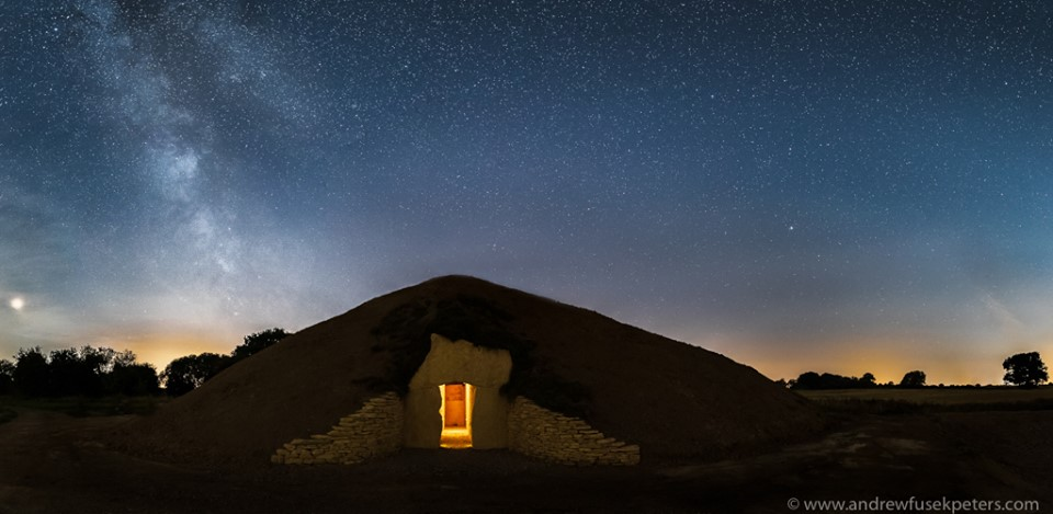 Soulton Long Barrow and Milky Way.