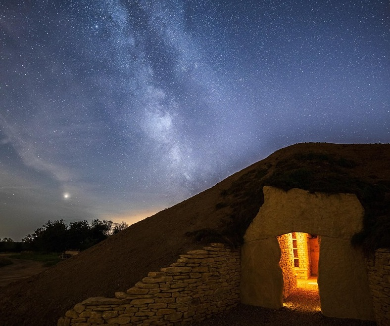 Soulton Long Barrow and The Milky Way