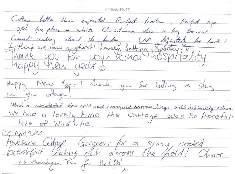 Keeper's Cottage Visitors Book 6