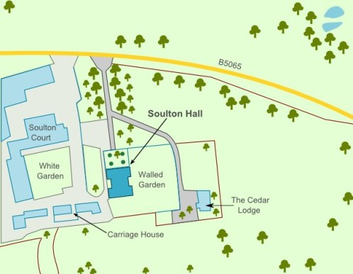 Soulton Hall site plan