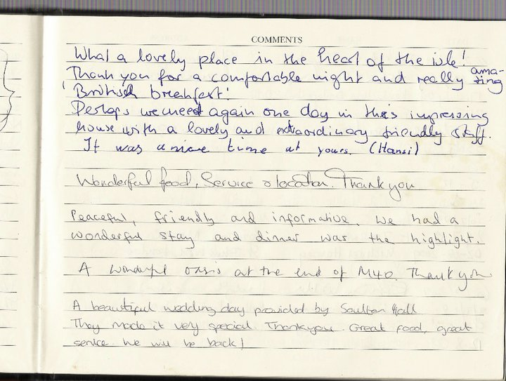 Soulton Guest Book Comments 12